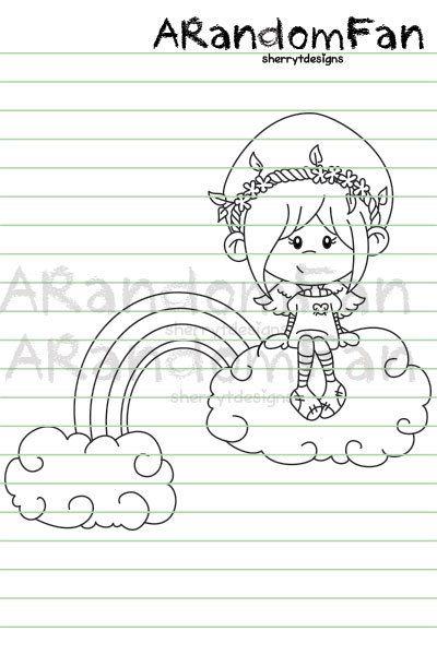 Digital Stamps Gemma On Cloud Nine por ARandomFan en Etsy
