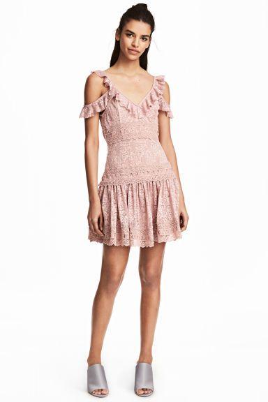Vestido de encaje - Rosa de antaño - MUJER | H&M ES