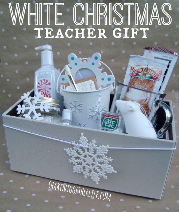 White Christmas teacher gift