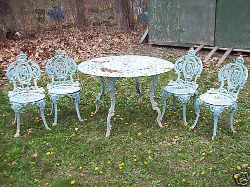 Antique Victorian Renaissance Cast Iron Garden Set. 896 best images about Wrought Iron Wonderful  on Pinterest   Iron