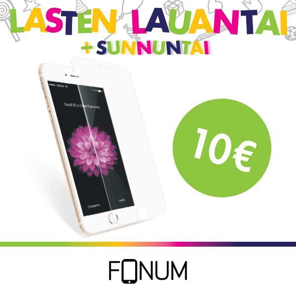 FONUM Panssarilasi asennettuna 10€ (norm. 15€). Lasten käsissä näytöt hajoavat helposti. Suojaa lapsesi puhelin panssarilasilla. Saatavana iPhone 4-7, 6+-7+, myös muille merkeille.