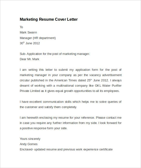 Trade Marketing Manager Cover Letter. Trade Marketing Manager