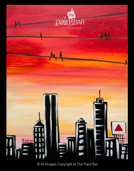 Birds Over #Boston Painting - Jackie Schon, The Paint Bar
