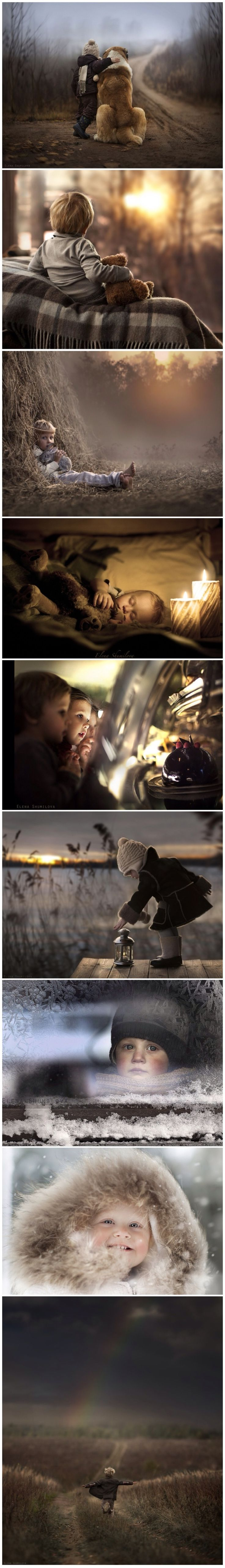 Elena Shumilova Takes Magical Pictures of Her Two Kids and Animals On Her Farm