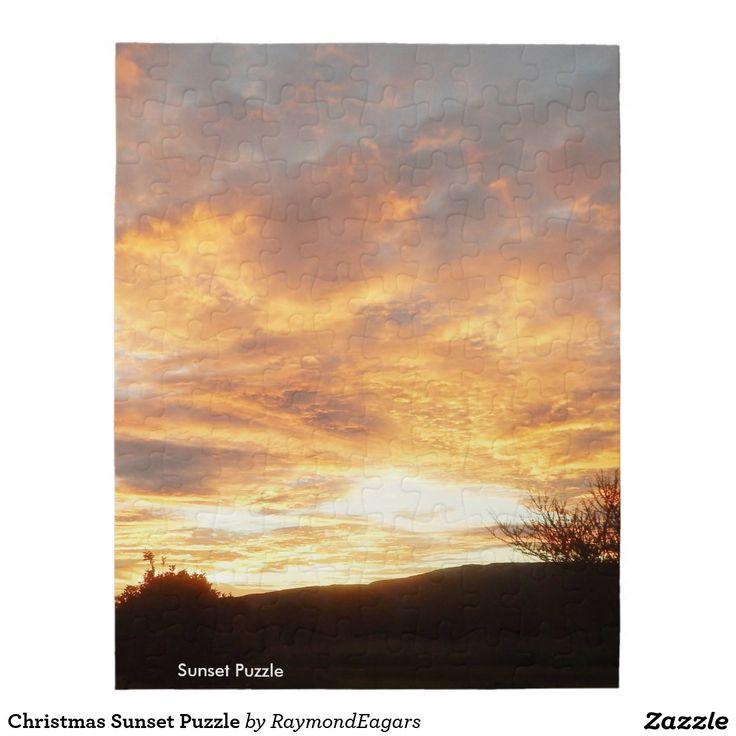 Christmas Sunset Puzzle    http://artscraftsandframes.co.za/