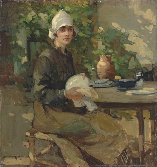 William Lee-Hankey - The kitchen maid, oil on canvas
