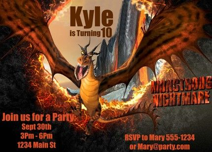35 best Leahs party invitations images on Pinterest Dragon party