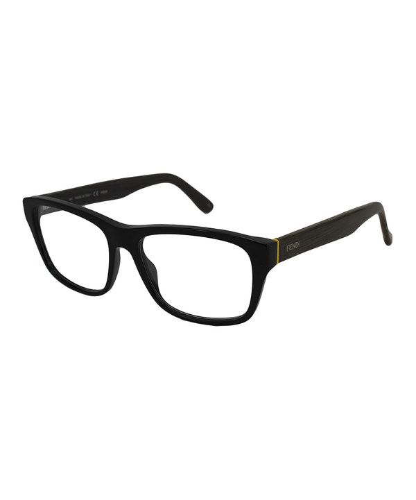 16591f1f9df5 This FENDI Black & Gold Horn-Rimmed Eyeglasses by FENDI is perfect!  #zulilyfinds | Accessory time | Pinterest | Black gold, Horn and Gold