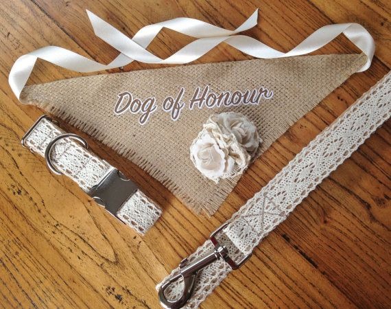 Beautiful Vintage Inspired Dog Wedding Attire by WillowDogDesigns