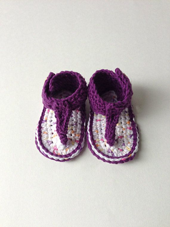 Crochet Baby Girl Gladiator Sandals childrens por StardustStyle