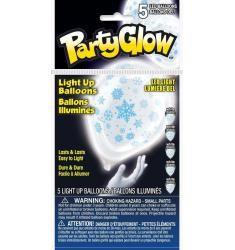 5 Ballons à LED flocons de neige