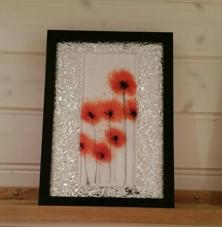 Poppies made with frit.