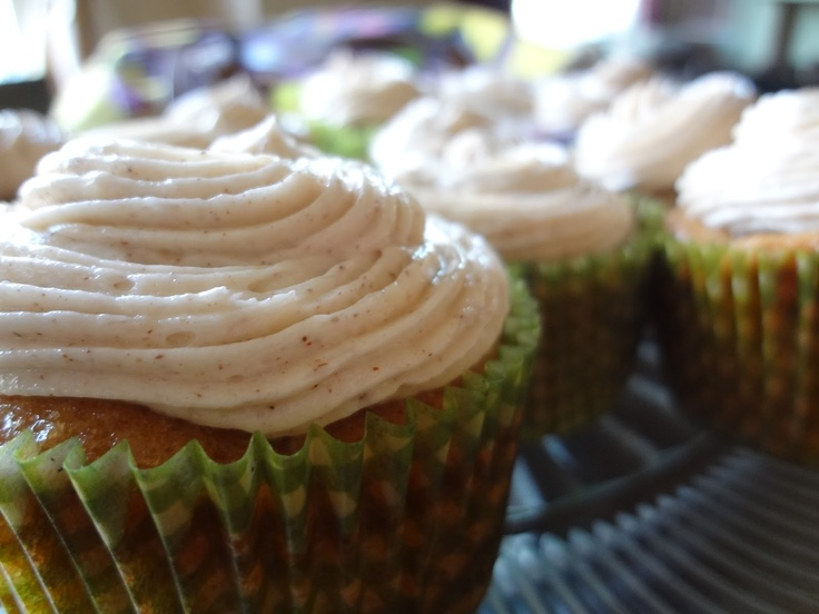 Zucchini Cake Cupcakes with Honey Cinnamon Frosting | Three Winks ...
