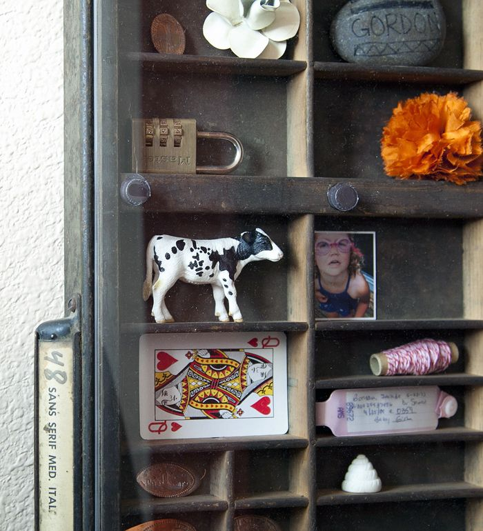 message letterpress drawer covered curio display by pretty things prudent michaels custom frames