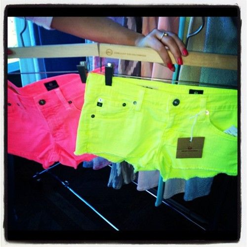 (:: Neon Shorts, Outfits, Fashion, Style, Dream Closet, Bright Shorts, Summertime, Bright Colors