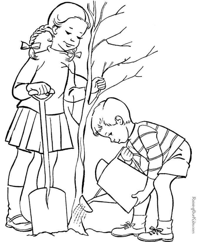 Arbor Day Coloring Book Pages!