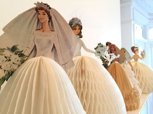 Vintage paper doll brides