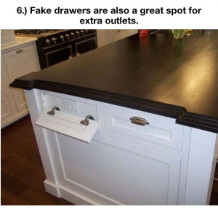 Plug-ins hidden behind false drawer fronts.