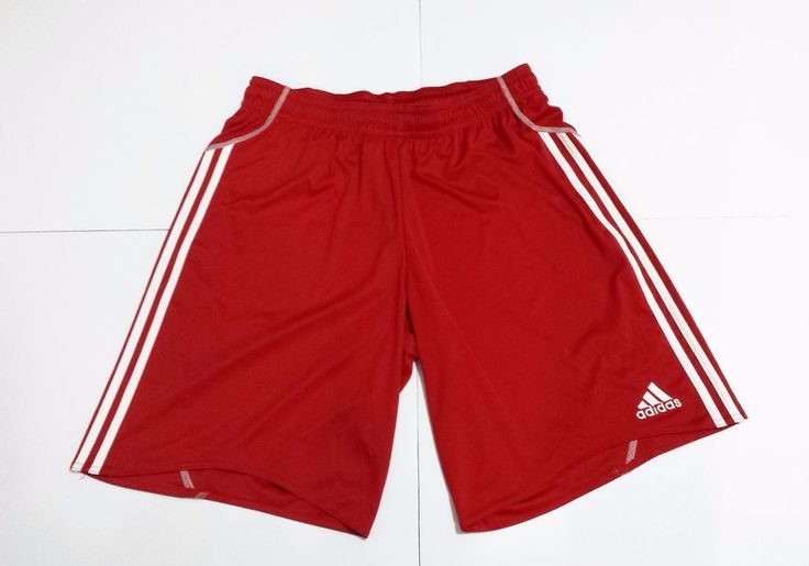 ADIDAS Men's Size XL Athletic Workout Training Fitness Running Red Track Shorts #adidas #Shorts