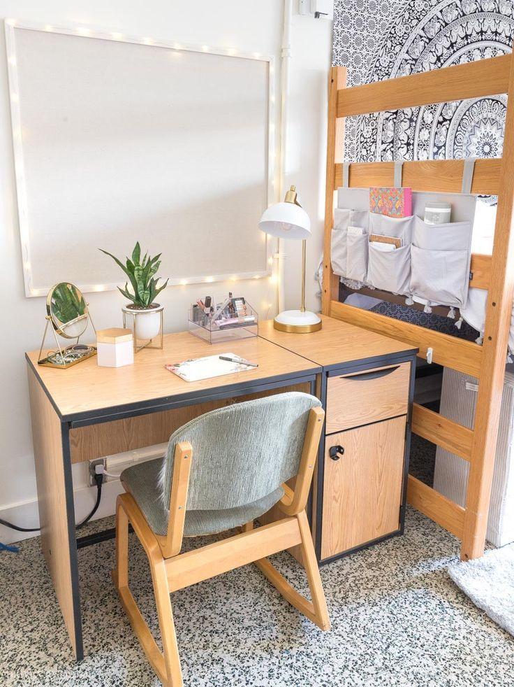 Our Before After Dorm Room Makeover Room Makeover College Dorm Rooms Dorm Room