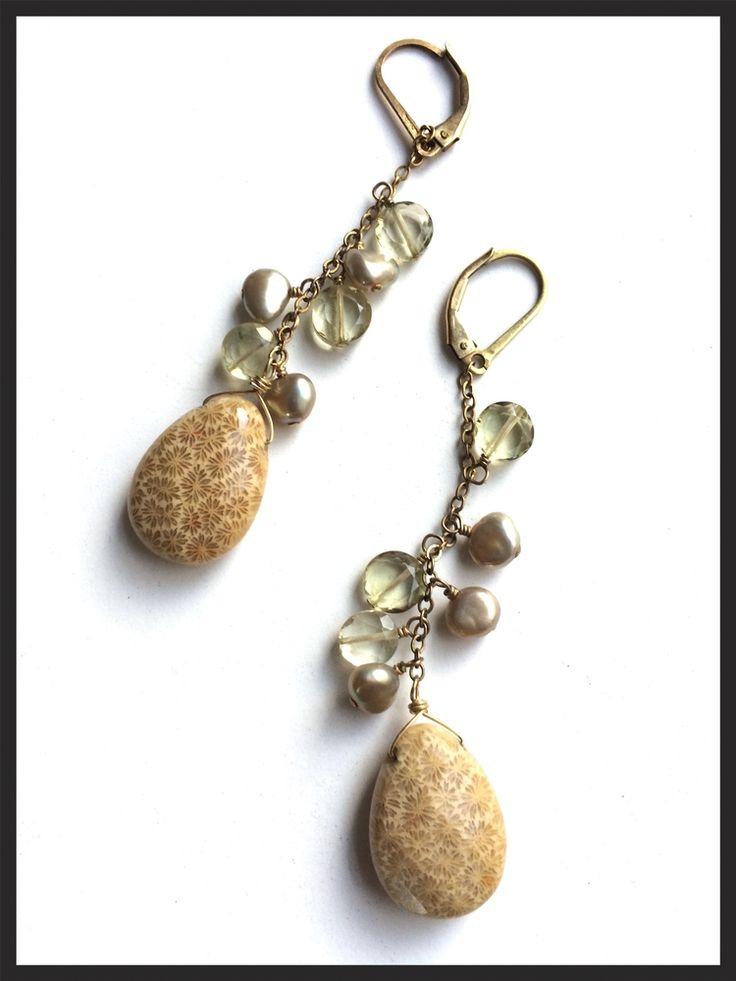 Pearl and Bead Drop Earrings