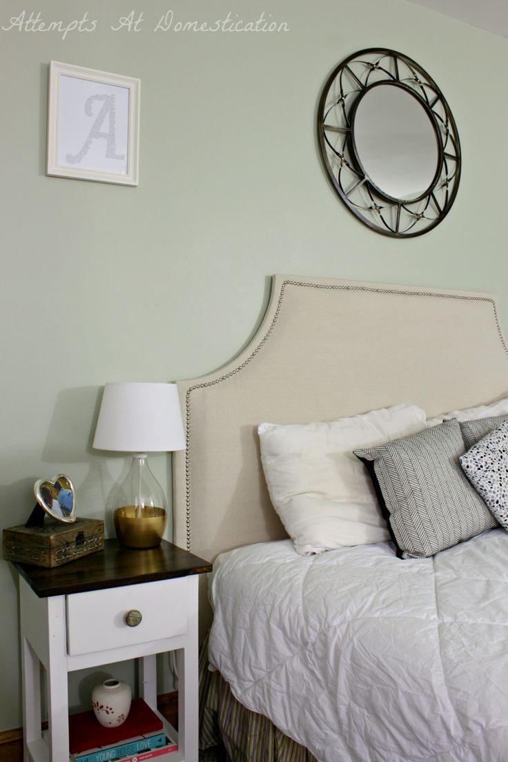 Pinterest Challenge - Upholstered Headboard - | Diy twin ...