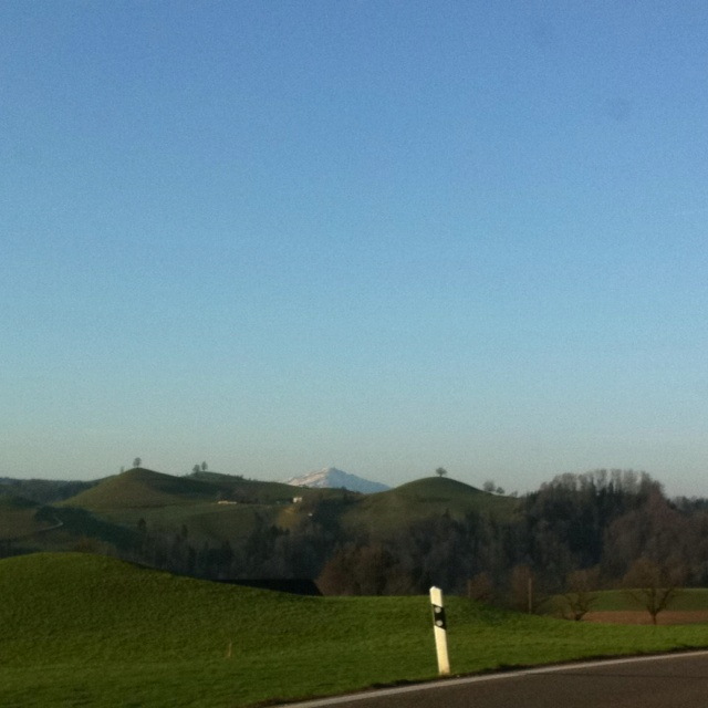 On top of Hirzel looking towards Rigi. On my way to the office.