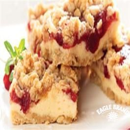 #Cranberry Cream Cheese Bars from Eagle Brand® #Valentine