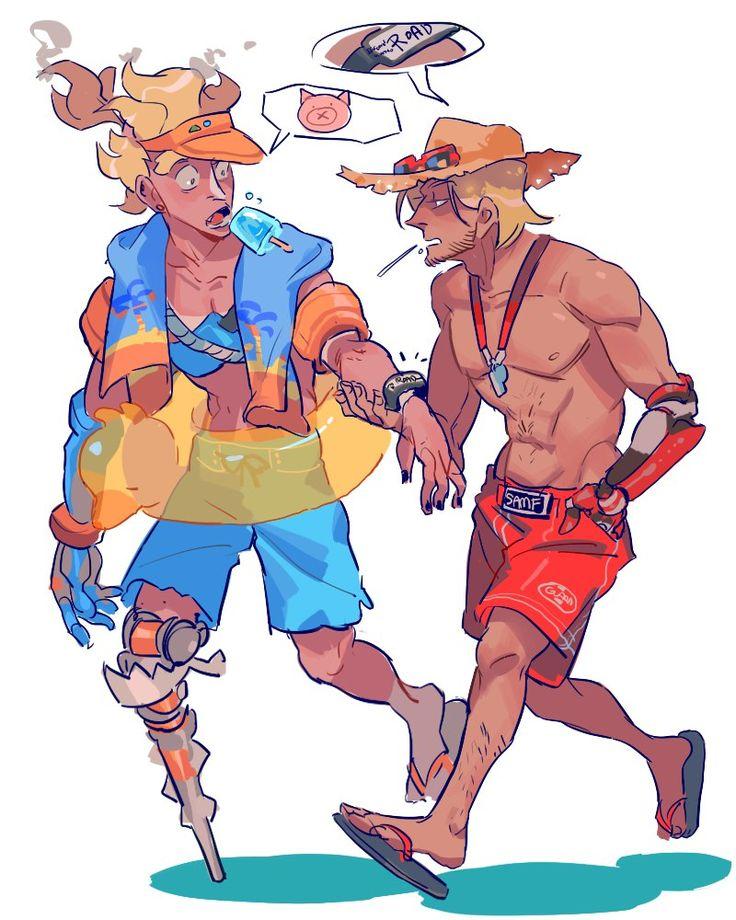 2 beach boys junkrat mccree