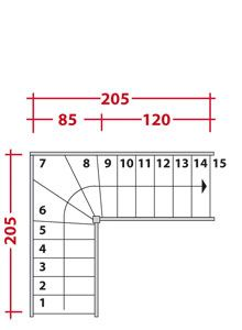 M s de 1000 ideas sobre calcul escalier en pinterest am nagement sous escal - Escalier encombrement minimum ...
