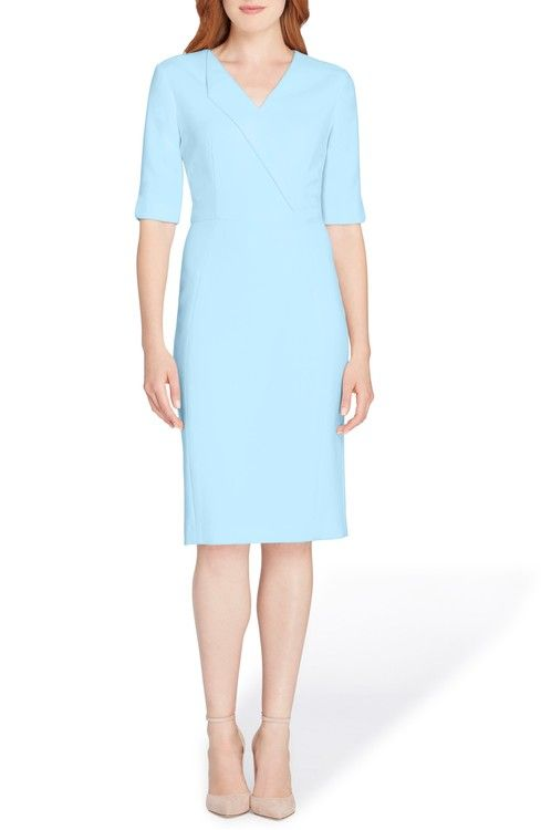 2c112f4754c2 Main Image - Tahari Envelope Neck Sheath Dress | Women's fashion ...