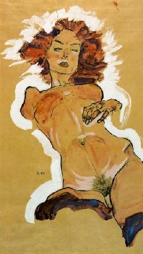 Female act de Egon Schielle