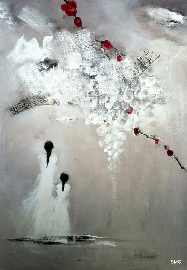 Solfrid M Skarseth  Akryl på lerret 50 × 70