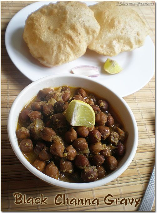 Black Channa Gravy / Black Channa Masala: http://www.sharmispassions.com/2010/03/black-channa-masalagravy.html