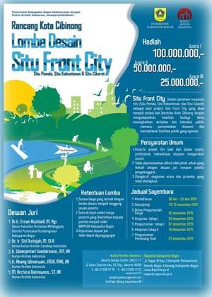 #SayembaraDesain #SituFrontCity #RancangKota #Cibinong #Bogor Lomba Desain Situ Front City 2015 Sayembara Rancang Kota Cibinong Berhadiah Total 175 Juta Rupiah  DEADLINE: 02 Desember 2015  http://infosayembara.com/info-lomba.php?judul=lomba-desain-situ-front-city-2015-sayembara-rancang-kota-cibinong-berhadiah-total-175-juta-rupiah