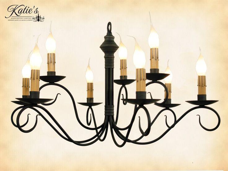 Washington Wrought Iron Chandelier187 best Primitive Lighting images on Pinterest   Primitive  . Primitive Colonial Light Fixtures. Home Design Ideas