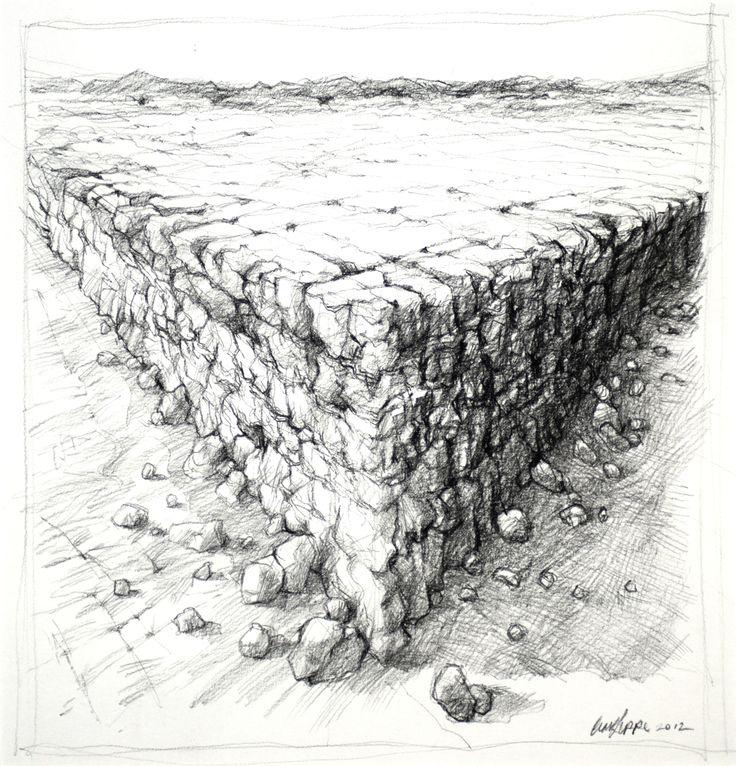 Carl Jeppe, Sketch for single negative, Pencil #art #drawing #landscape www.art.co.za/carljeppe.html