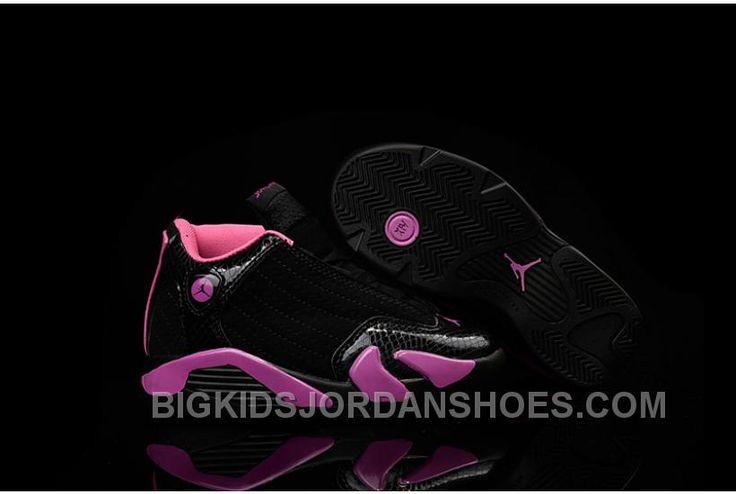 http://www.bigkidsjordanshoes.com/kids-jordankids-air-jordan-14-black-pink-hot-sale.html KIDS JORDAN|KIDS AIR JORDAN 14 BLACK PINK HOT SALE Only $72.00 , Free Shipping!