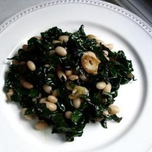 Lemon Parmesan Sauteed Kale & White Beans