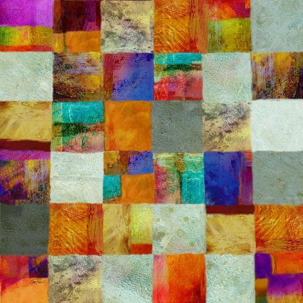 Patchwork copyright Ann Powell #abstract #art #wallart #fineart