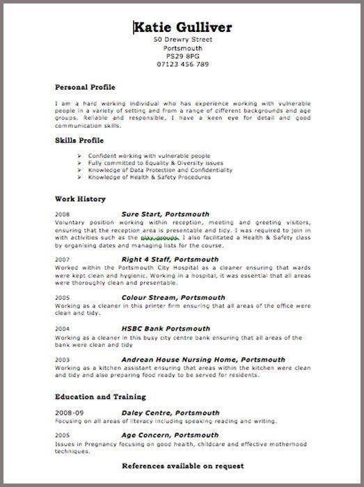 Resume Format Uk #format #resume #ResumeFormat Resume examples