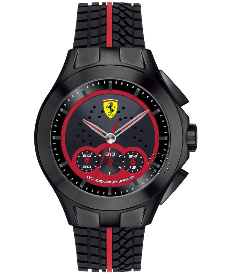 FERRARI Textures of Racing Chronograph Black Rubber Strap Τιμή: 289€ http://www.oroloi.gr/product_info.php?products_id=34797