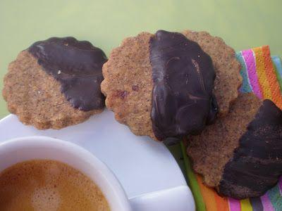 Lola en la cocina: Galletas de café con cubierta de chocolate