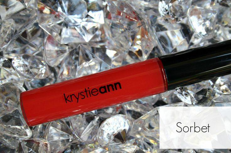 Krystie Ann Cosmetics: Lip Gloss Shade: Sorbet Price: $15  cosmetics, makeup, bold lips, bold gloss, lip gloss, bright lips www.krystieann.com