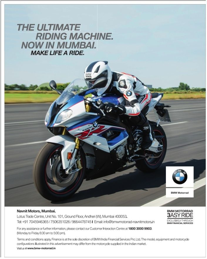 Bmw Bike The Ultimate Riding Machine Now In Mumbai Ad Carros