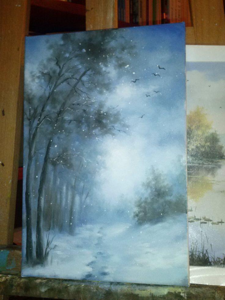 Zimowy las Agnieszka Błachuta