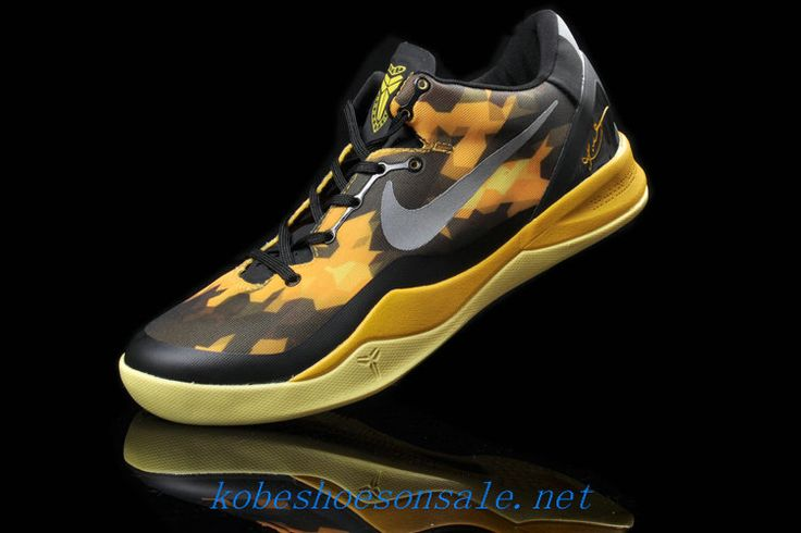 nike kobe 8 elite yellow black metallic silver 555035 001