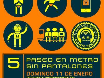 Flash Mob México. Viaje en METRO sin pantalones 2015