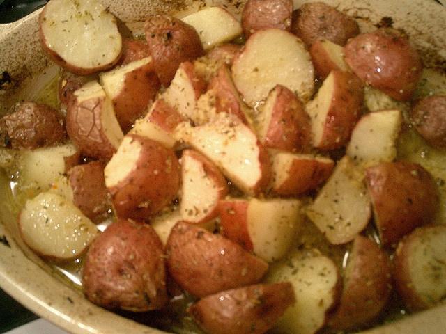 Greek Food: Herb potatoes