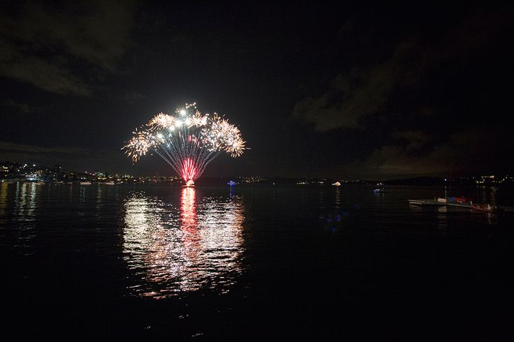 Fireworks outside Catalina Rose Bay. Image Mint Photography.